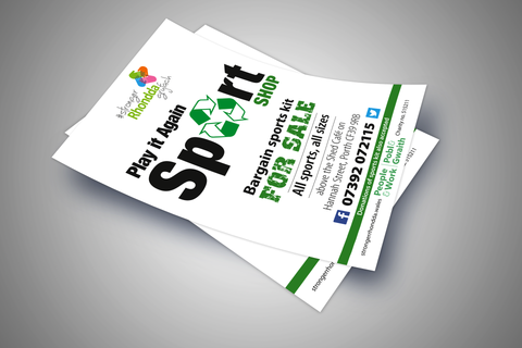 A5 printed flyer deals more sizes available