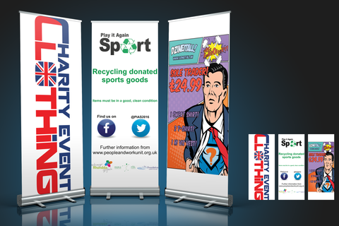 Printed roller banners choice of sizes free artwork service