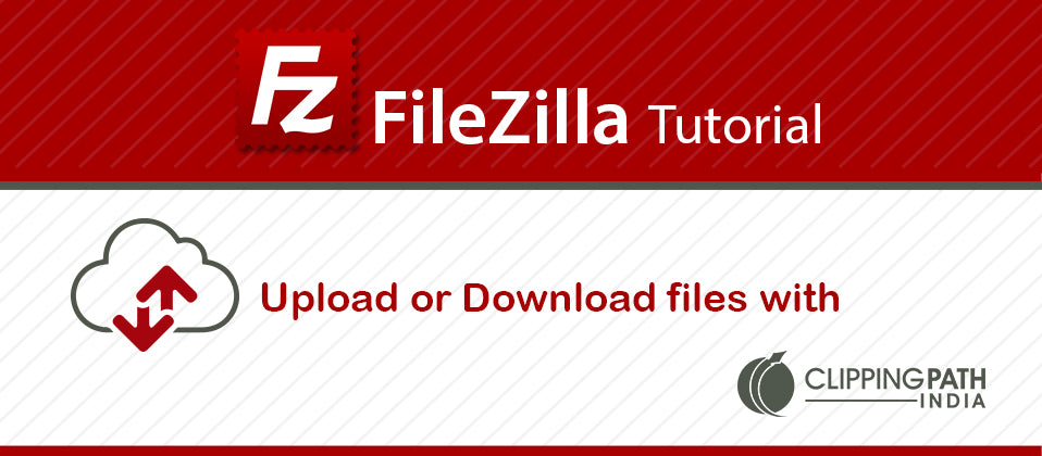 FileZilla banner by Clipping Path India