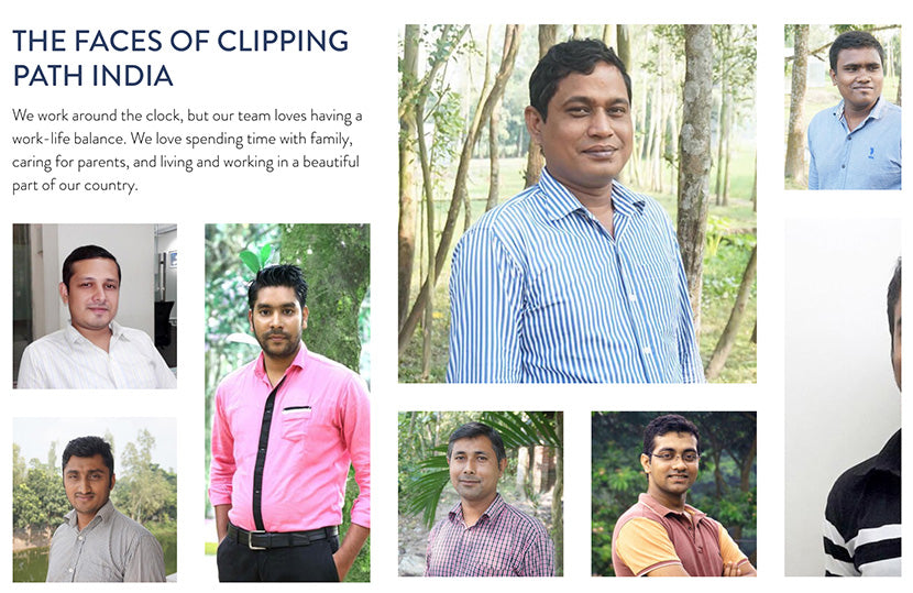 The faces of Clipping Path India