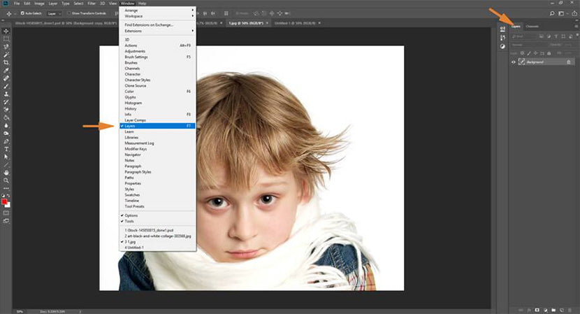 removing backgrounds in photoshop