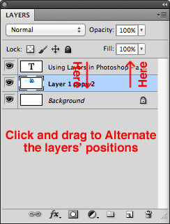Alternating the layers position