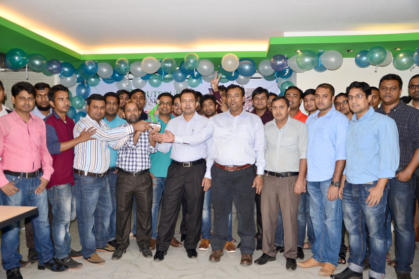 Basis outsourcing award celebration moment 2