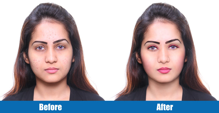 Before and after image of photo retouching