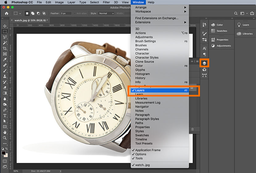 create a transparent background in Photoshop