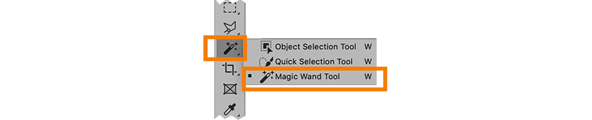 Photoshop CC 2020 magic wand tools