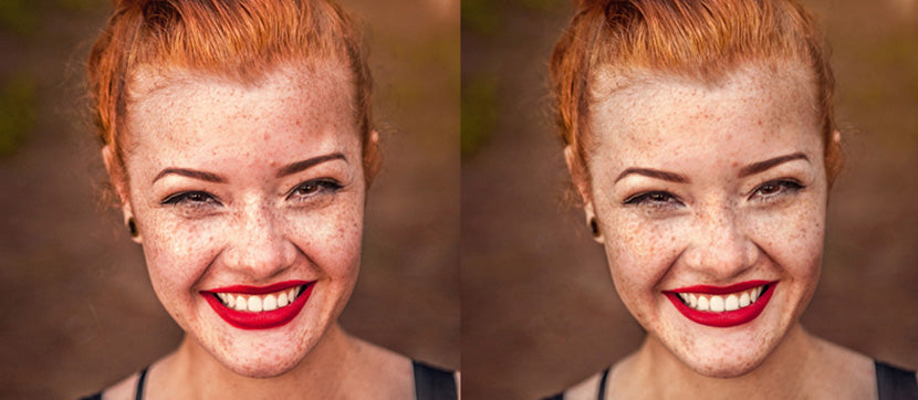 Retouching product photos to fix blemishes and smudges