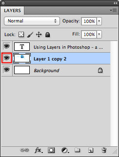 Click on eye icon to make visible of invisible layers