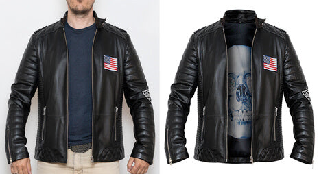 Removed model from jacket and created invisible mannequin effect in Photoshop