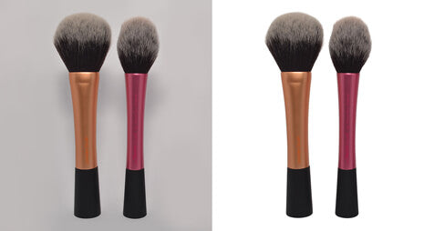 Clipping Path India image masking sample of brush image with fur edge