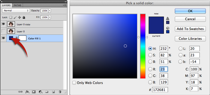 Color changing option