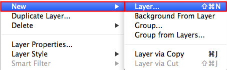 Create new layer for burn and dodge tool