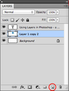 Create new layer from the bottom of the layer panel
