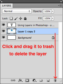 Deleting the layer