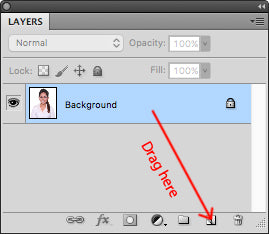 Drag the background layer to duplicate