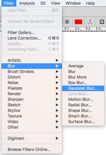Go to filter, blur, gaussian blur to make the object