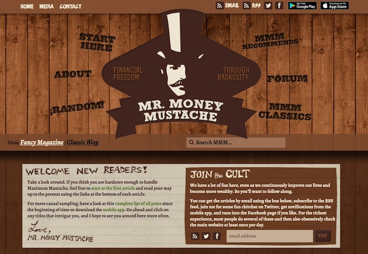 Mr. Money Mustache business idea