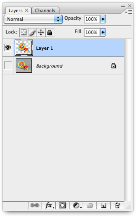 insert the selected area in a new layer
