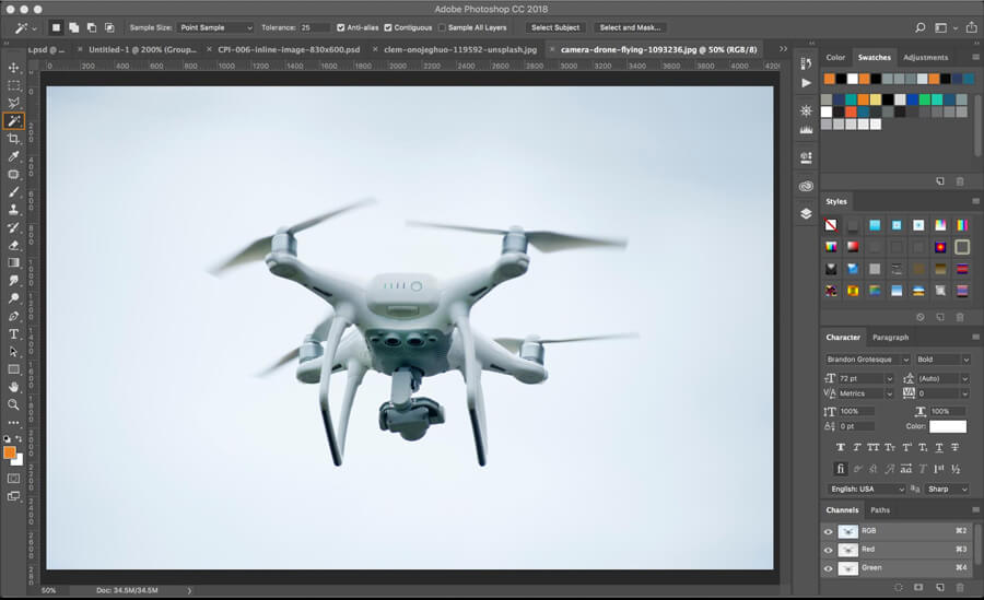 How to Change the Sky Color in Photoshop CC18