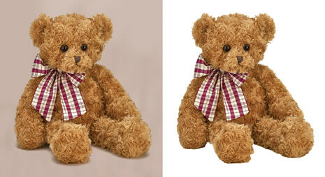 Clipping Path India Background removal before-after example for doll image