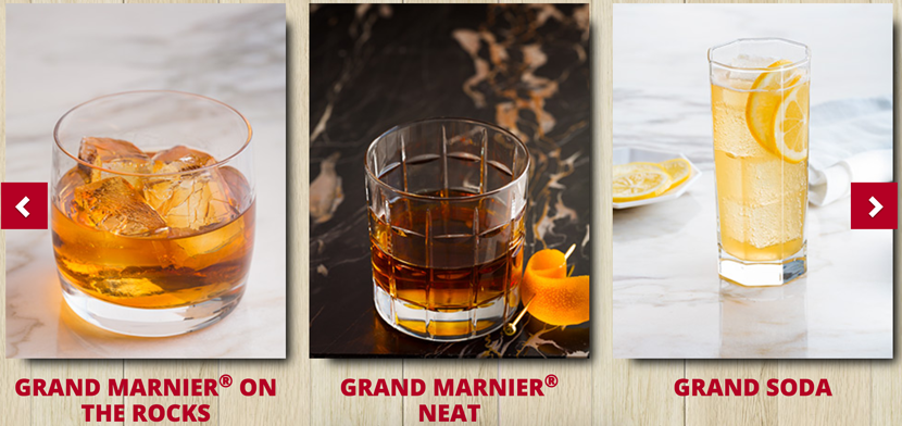 tile background, product photography, grand marnier