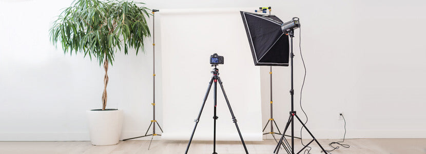 In-house photography department studio