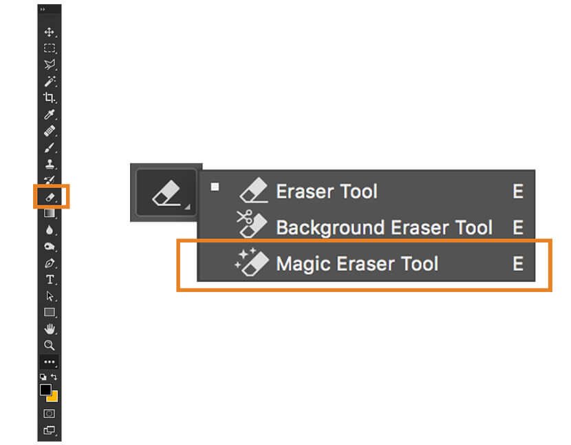 Magic eraser tool