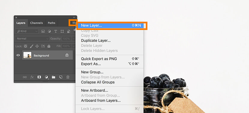 New layer fly out menu