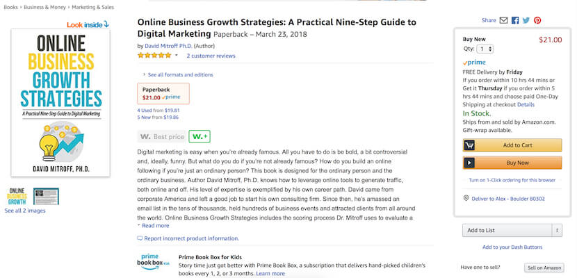 """Online Business Growth Strategies: A Practical Nine-Step Guide to Digital Marketing"" by David Mitroff"