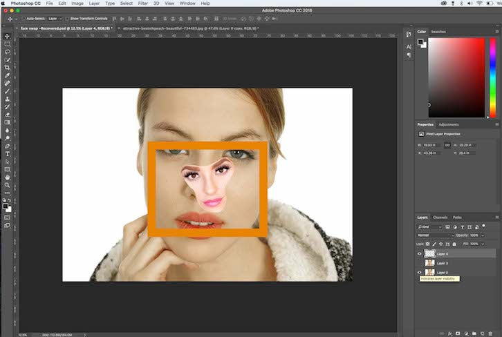 Photo editor change face shape