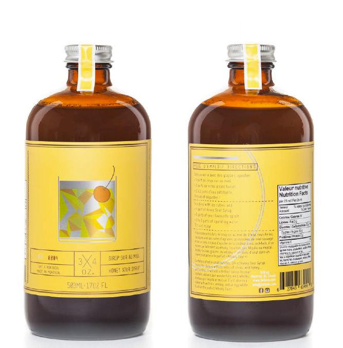 3/4 OZ - Honey Sour Syrup