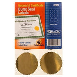 "3 Pk, BAZIC 2"" Round Gold Notarial / Certificate Seal Label - 42 Total Labels Per Pack - GreatHoard.com"