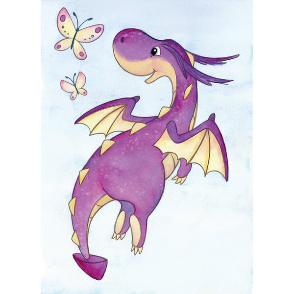 Wild Rose Studio Clear Stamp Dragon Flying CL487 - GreatHoard.com