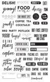 "Prima Marketing 655350992408 Frank Garcia Planner Accessories - clear Stamps ""Food & Travel"" - GreatHoard.com"