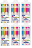 6 Pk, Bazic Glitter Color Gel Pen w/ Cushion Grip, Assorted Color (6 Per Pack/ Total of 36 Pens) - GreatHoard.com