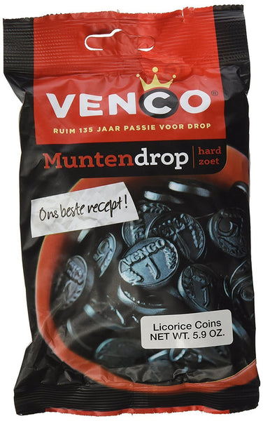Venco Coin Shaped Licorice 5.9 Oz Bags (Pack of 4) - GreatHoard.com
