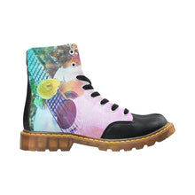 Winter Round Toe Women's Boots-Watercolour Classic Guitar - wonderlandaccessories