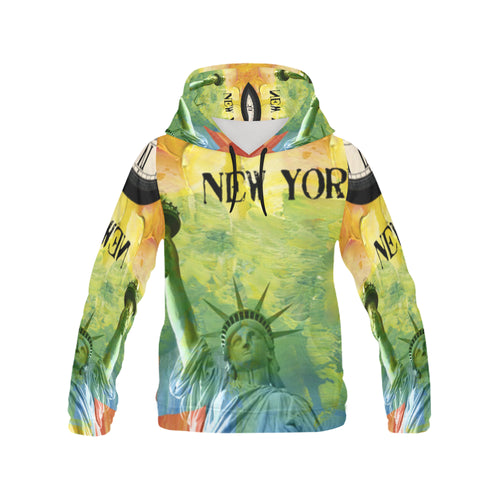 Men's All Over Print Hoodie-Colourful New York - wonderlandaccessories