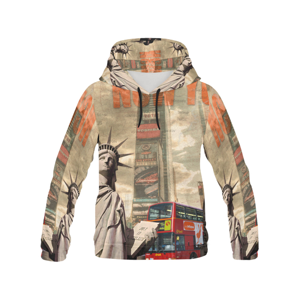 Men's All Over Print Hoodie- New York - wonderlandaccessories