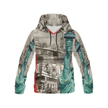 Men's All Over Print Hoodie-Vintage New York - wonderlandaccessories