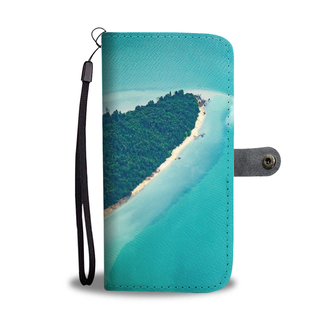 Exotic Island-Wallet-Phone case