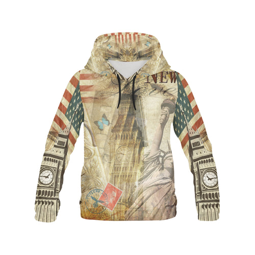 Men's All Over Print Hoodie - USA and London - wonderlandaccessories