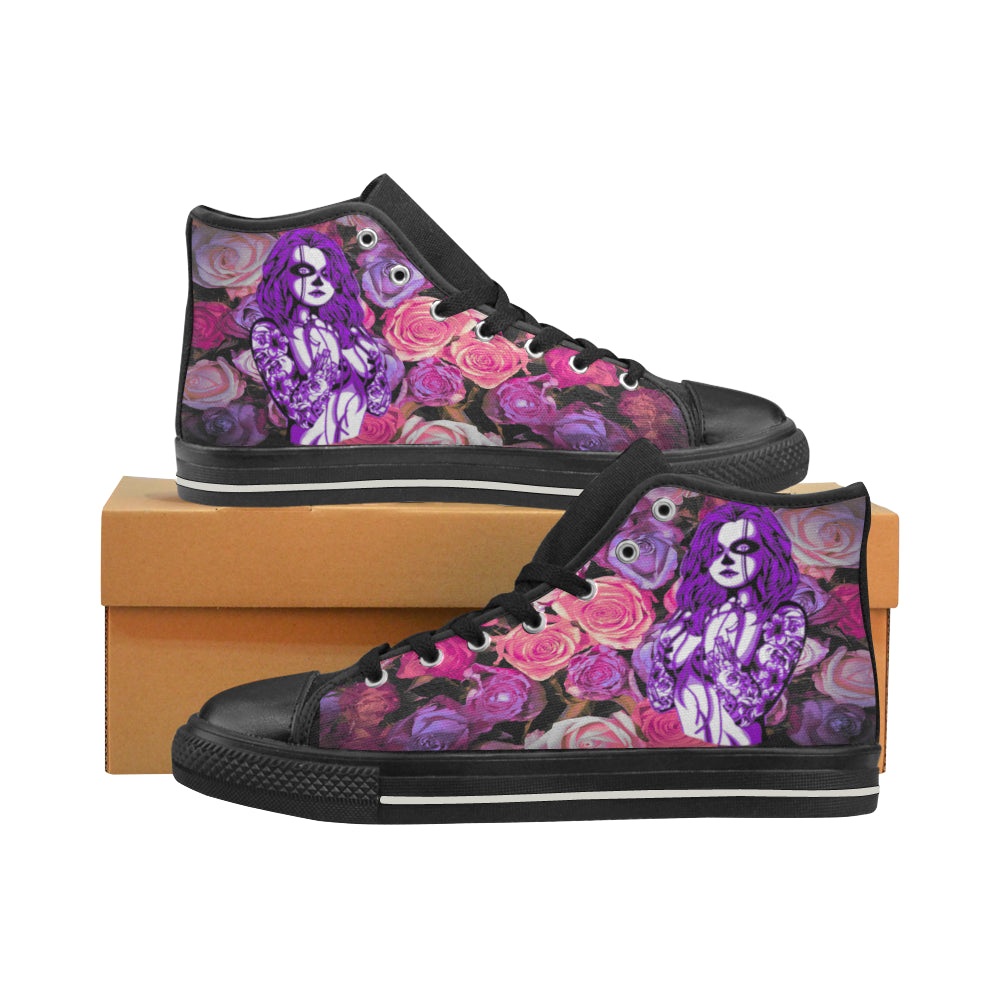Aquila High Top Canvas Women's Shoes-Naked Calavera