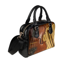 Shoulder Handbag-Violin and Score - wonderlandaccessories