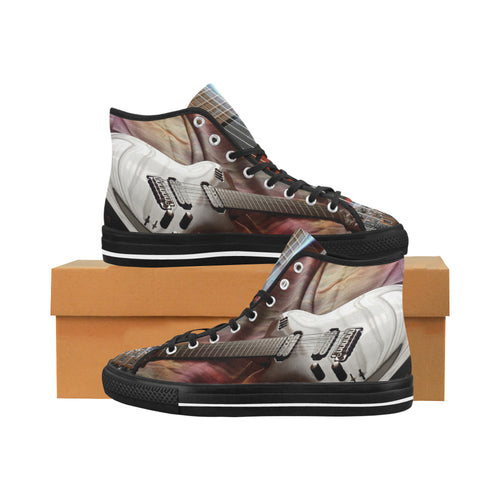 Vancouver High Top Canvas Men's Shoes -Electric Guitar