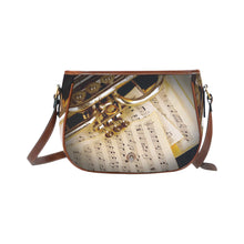 Saddle Bag- Trumpet and Score - wonderlandaccessories