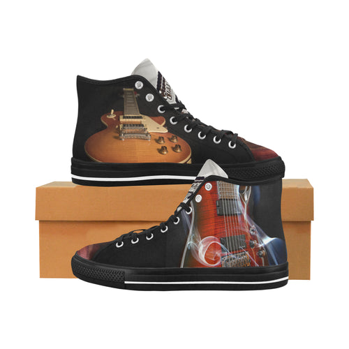 Vancouver High Top Canvas Men's Shoes - Electric Guitars