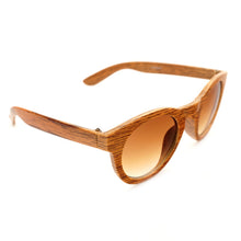 Brown, Cat Eye  Bamboo Wood Sunglasses for Women, in a special Gift Box - wonderlandaccessories