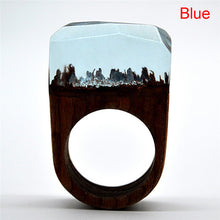 Wild Nature Landscapes Wooden Rings in 4 Colors for Women - wonderlandaccessories