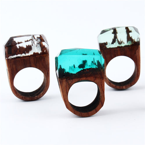 Secret Forest Wooden Ring For Women in 5 Colours Variation